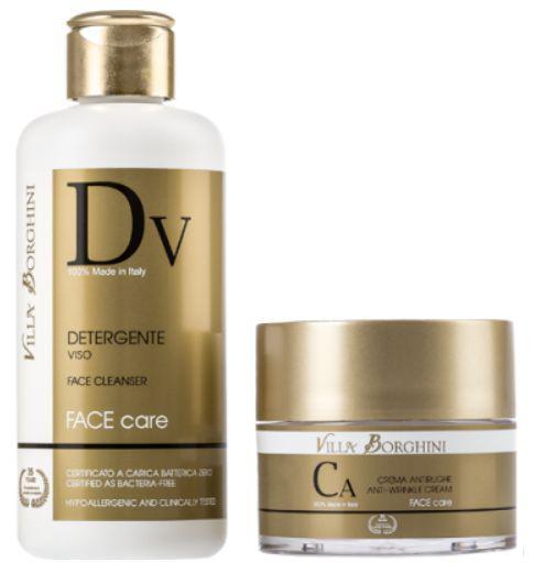 Tratament Antirid Villa Borghini Face Care-demachiant+crema