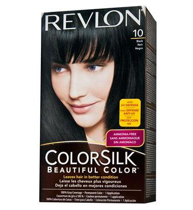Vopsea De Par Fara Amoniac Revlon Colorsilk - 10 Black (negru)