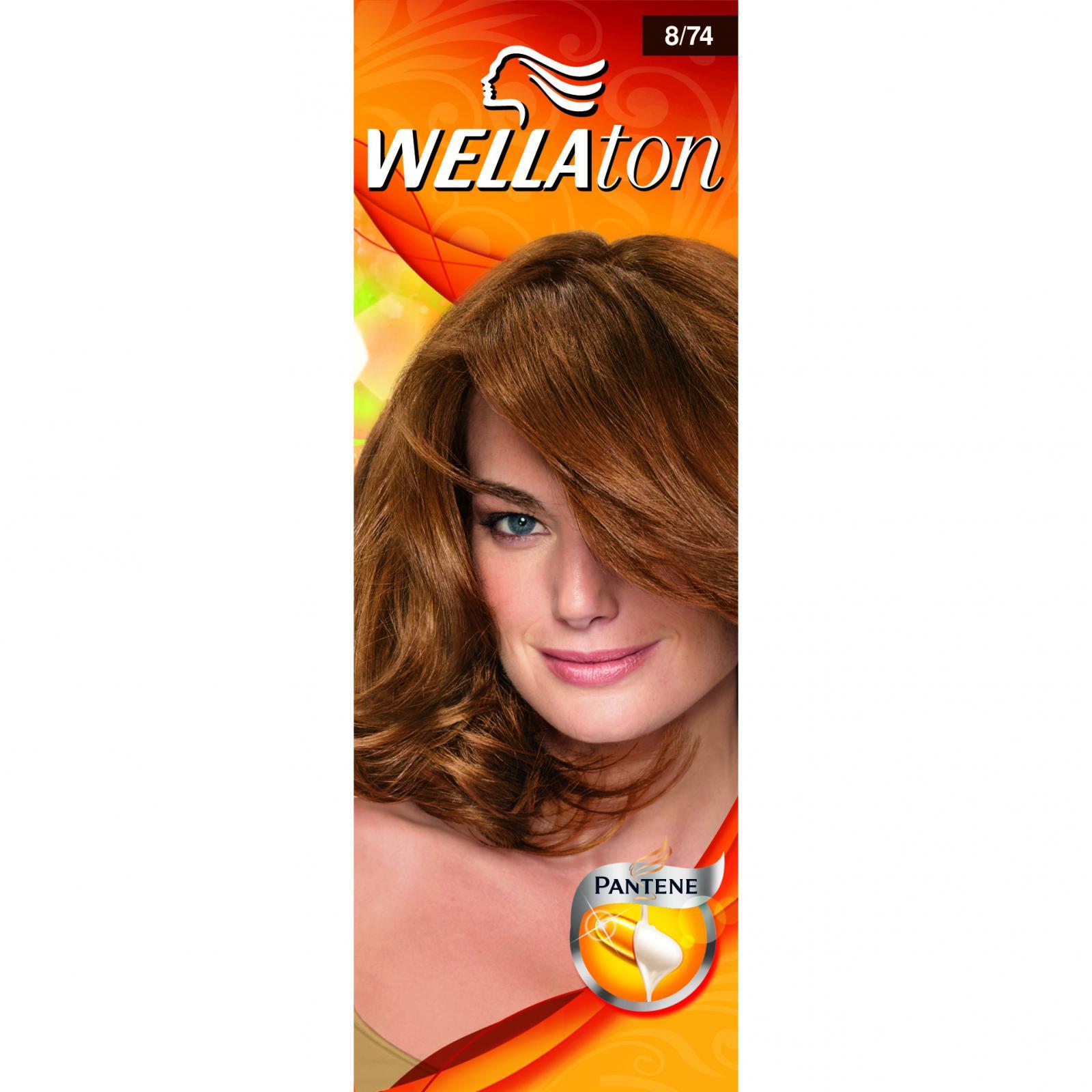 Vopsea De Par Wellaton - Nuanta 8/74 Ciocolata Caramel