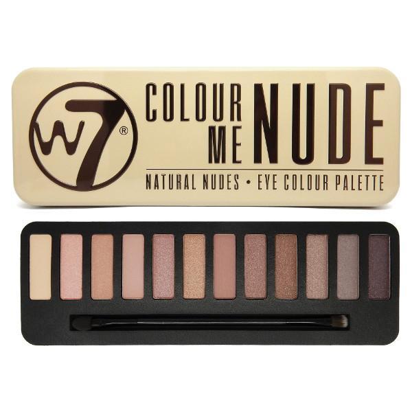 Trusa Profesionala Cu 12 Farduri W7 Colour Me Nude